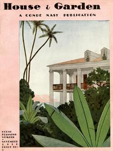 House & Garden Cover - November 1930 by André E. Marty