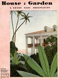 House & Garden Cover - November 1930 by André E. Marty