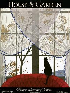 House & Garden Cover - September 1925 by André E. Marty