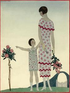 Vogue - August 1925 by André E. Marty