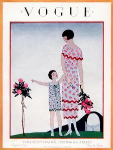 Vogue Cover - August 1925 by André E. Marty