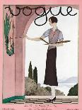 Vogue Cover - August 1925-André E. Marty-Premium Giclee Print