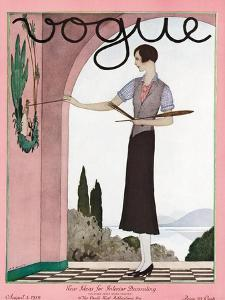 Vogue Cover - August 1929 by André E. Marty