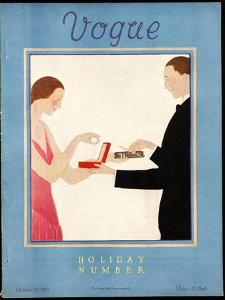 Vogue Cover - December 1923 by André E. Marty