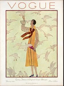 Vogue Cover - February 1926 by André E. Marty