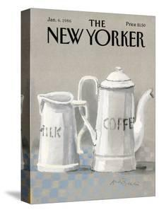 The New Yorker Cover - January 6, 1986 by Andre Francois