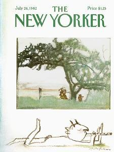 The New Yorker Cover - July 26, 1982 by Andre Francois