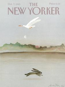The New Yorker Cover - October 7, 1985 by Andre Francois
