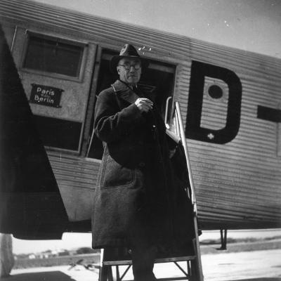 Andre Gide Travelling in USSR, 1936--Photographic Print