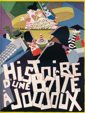 Cover Design by Andre Helle for Histoire Dune Boite a Joujoux, 1926, (1929)