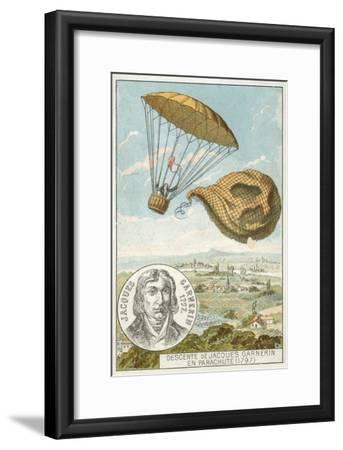Andre-Jacques Garnerin Descending from a Balloon by Parachute, 1797
