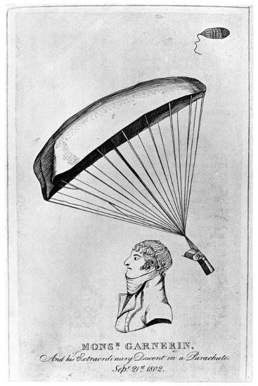 Andre Jacques Garnerin, French Aeronaut and the First Parachutist, C1802--Giclee Print