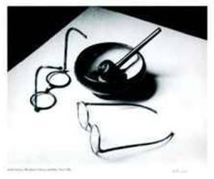 Mondrain's Glasses and Pipe by André Kertész