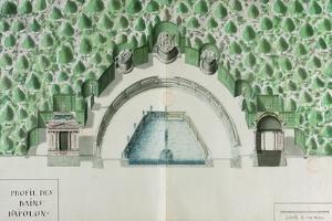 Ms 1307/52 Design for the Baths of Apollo at Versailles by Andre Le Notre
