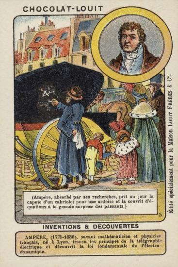 Andre-Marie Ampere, French Mathematician and Physicist--Giclee Print