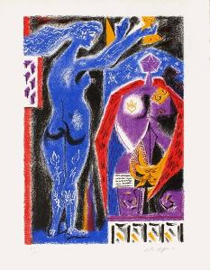 Nu Bleu by André Masson