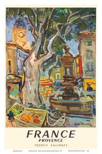 Provence, France - French National Railways - Market in Aix-en-Provence by André Planson