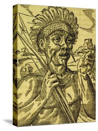 Chief of Tribe of Cannibals, Engraving from Universal Cosmology