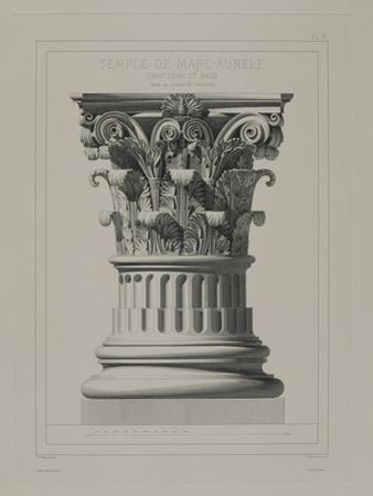 Chapiteau et base ; détails au dixième de l'exécution by André Villain