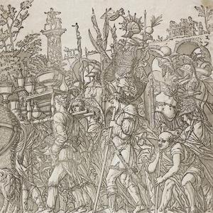 Triumph of Caesar, 1599 by Andrea Andreani