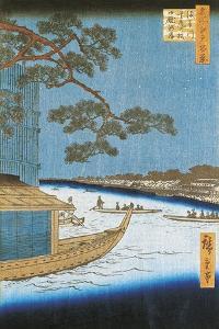 Pine of Success, Asakusa River in Edo, Pleasure Boat, 1797-1858 by Andrea Appiani
