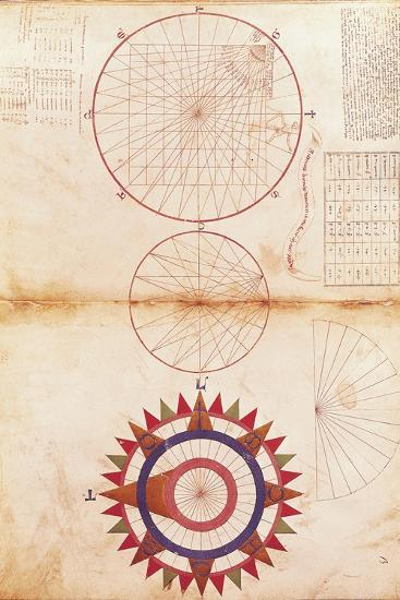 Andrea Bianco Study of Meridian and Parallel Lines and Cardinal Points--Giclee Print