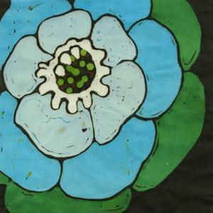 Aqua Batik Botanical V by Andrea Davis