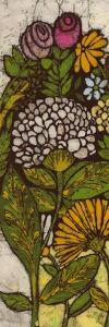 Batik Flower Panel I by Andrea Davis