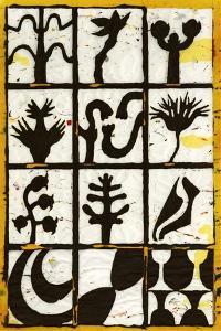 Black Botanical 12-Patch by Andrea Davis