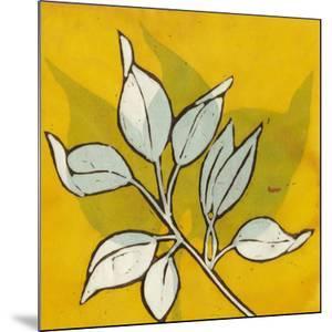 Gold Batik Botanical I by Andrea Davis