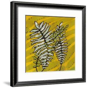 Gold Batik Botanical II by Andrea Davis