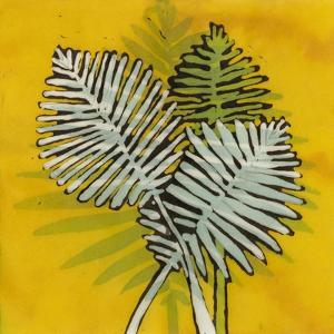 Gold Batik Botanical III by Andrea Davis