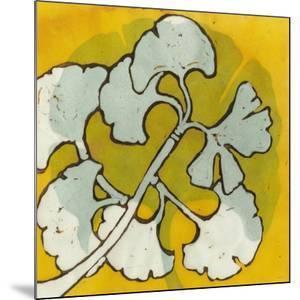 Gold Batik Botanical IV by Andrea Davis