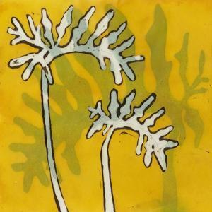 Gold Batik Botanical V by Andrea Davis