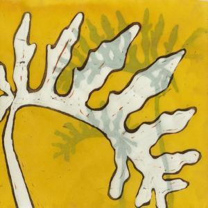 Gold Batik Botanical VI by Andrea Davis