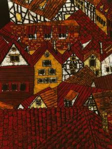 Red Roofs I by Andrea Davis