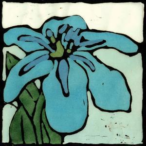 Teal Batik Botanical I by Andrea Davis