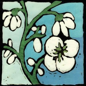 Teal Batik Botanical II by Andrea Davis