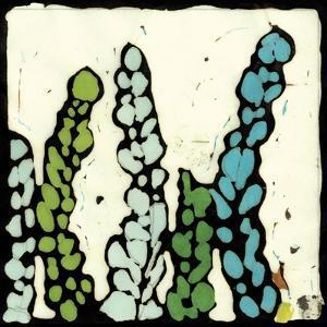 Teal Batik Botanical III by Andrea Davis