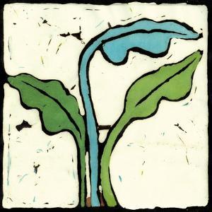 Teal Batik Botanical IV by Andrea Davis