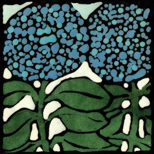 Teal Batik Botanical V by Andrea Davis