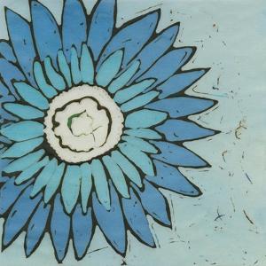 Turquoise Batik Botanical III by Andrea Davis