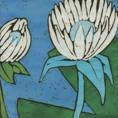 Turquoise Batik Botanical IV