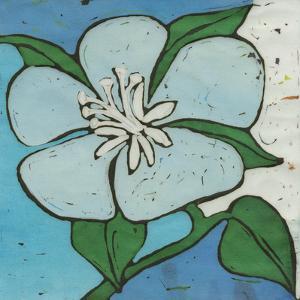 Turquoise Batik Botanical VI by Andrea Davis