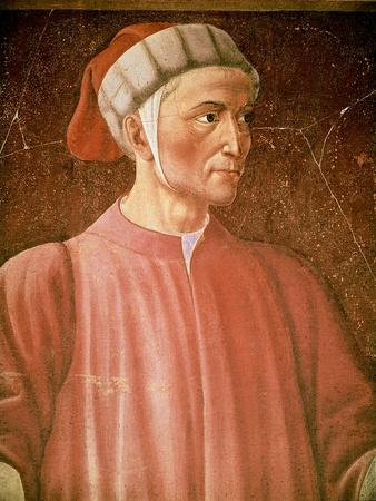 Dante Alighieri Detail of His Bust, from the Villa Carducci Series of Famous Men and Women, c. 1450