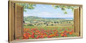 Finestra su campo di papaveri by Andrea Del Missier