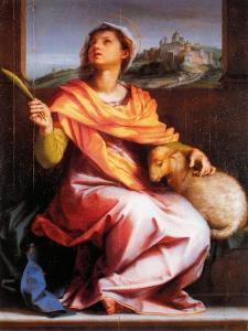 Altarpiece of St. Agnes by Andrea del Sarto