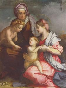 Madonna and Child with St. Elizabeth and the Infant St. John the Baptist (Panel) by Andrea del Sarto
