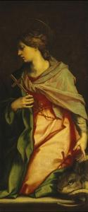 Painting of Santa Margherita by Andrea del Sarto
