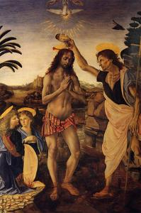 Baptism of Christ by Andrea del Verrocchio